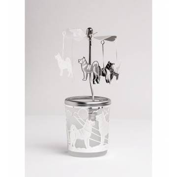 Carousel Glas Dogs, Silver