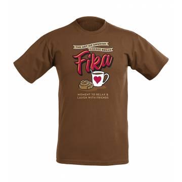 Suklaanruskea Fika T-paita