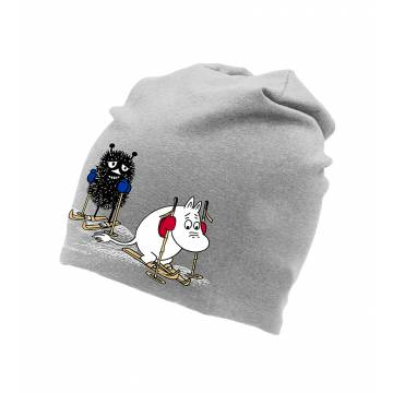 Heather Grey DC Skiing Moomin and Stinky Tricot beanie