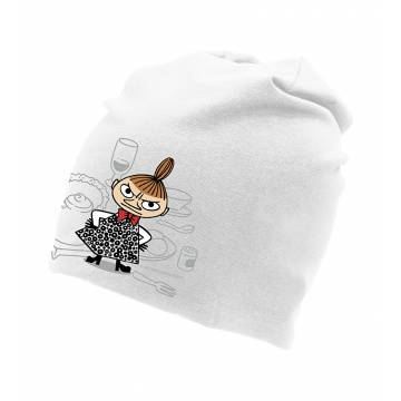 White DC Little My Tricot beanie