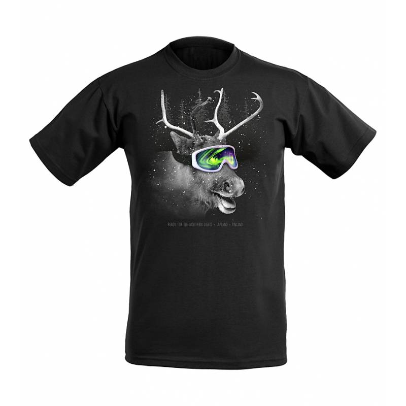 DC Reindeer and shades Aurora BorealisKids T-shirt