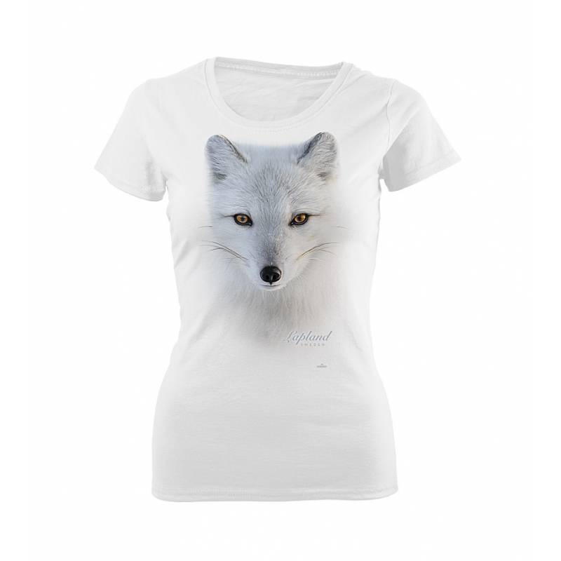 DC Large Arctic fox head Sweden Slim T-shirt