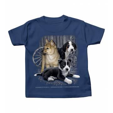 Tummansininen DC Koiranpennut Vauvojen T-paita