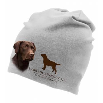 Melerattu Harmaa DC Labradorinnoutaja, ruskea Trikoopipo