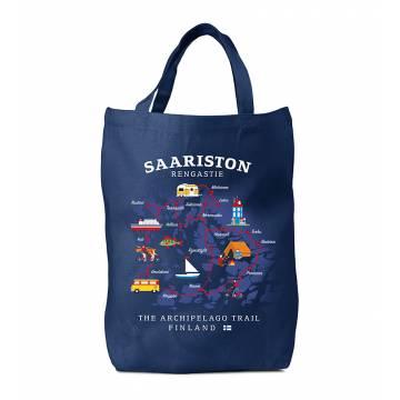 Navy Blue DC Saariston rengastie Cotton Bag