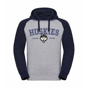 Heather Grey/ Navy DC Huskies, Lapland Baseball Hoodie