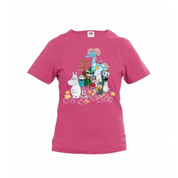 Fuchsia Moomins and the horse Kids T-shirt