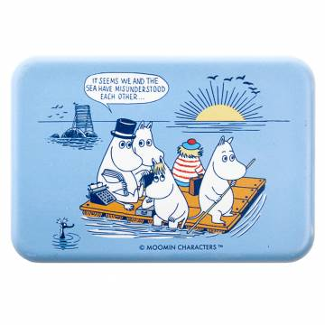 Colored Moomins on a raft, Oursea Magnet