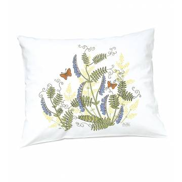 White DC Flowers and butterflies Pillow casse