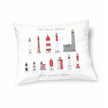 White DC Old Finnish lighthouses Pillow case