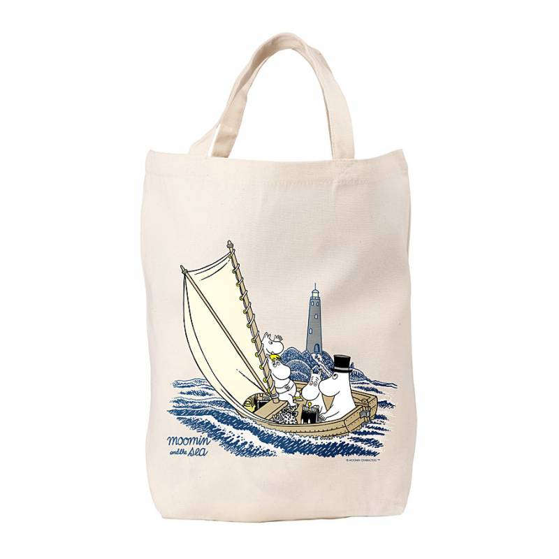 Muumins and lighthouse, OurSea Cotton Bag