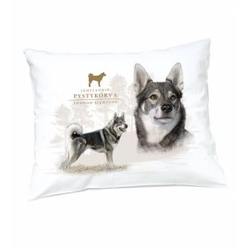 White DC Jämthund Pillow case