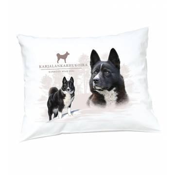 White DC Karelian Bear dog Pillow case