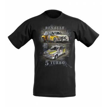 Black DC Renault GT & R5 Turbo Kids T-shirt