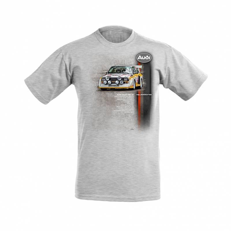 Audi Quattro S1 kids T-shirt grey melange