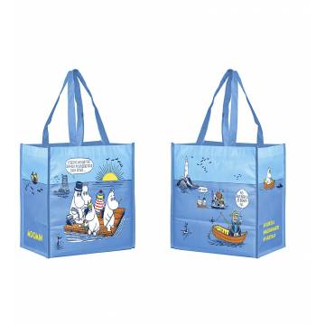 Sky Blue Oursea/Moomin and the Sea Shopping bag