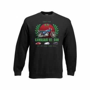 Black Kawasaki H1 500 Sweatshirt