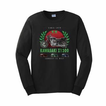 Black DC Kawasaki Z1300 longsleeve T-shirt