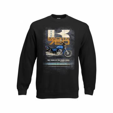 Black Vintage Kawa 750 H2  Sweatshirt