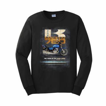 Black Vintage Kawa 750 H2  pitkähihainen T-shirt