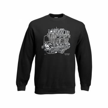 Black CBX Honda CB 750 Engine Sweatshirt