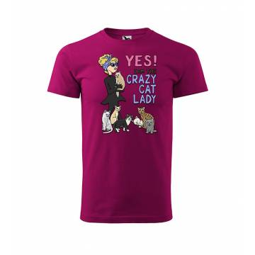 Fuchsia DC Crazy Cat Lady T-shirt