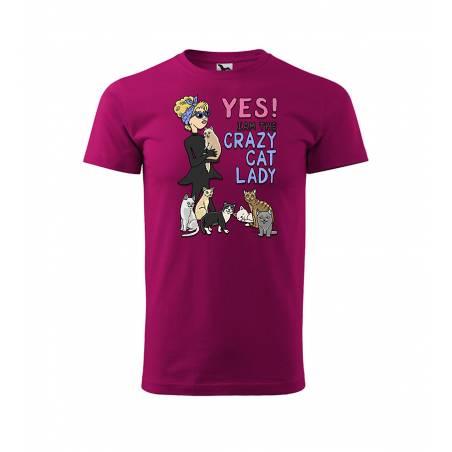 Fuchsia DC Crazy Cat Lady T-paita