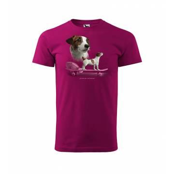 Fuchsia DC Jack Russell Terrier T-shirt