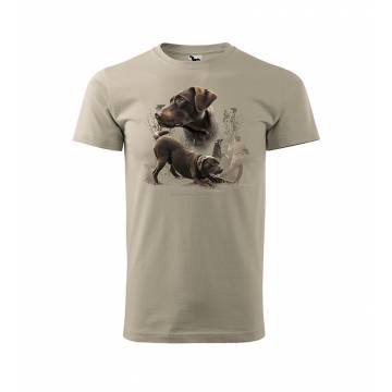 Ice Gray DC Brown Labrador Retriever T-shirt