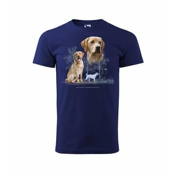 Midnight Blue DC Yellow Labrador Retriever T-shirt
