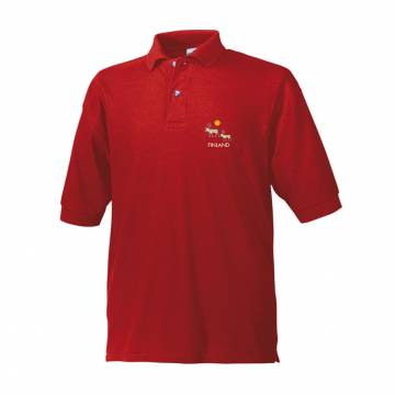 Red Silver reindeer, Lapland Pique polo