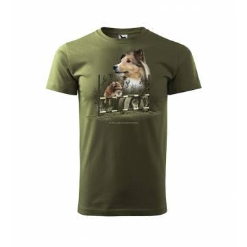 Khaki DC Shetland Sheepdog T-shirt