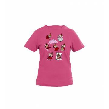 Fuksia Pikku Myy puuhailee Tyttöjen T-paita