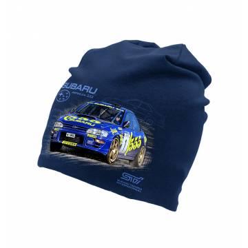 Navy Blue Subaru Imbreza  tricot beanie