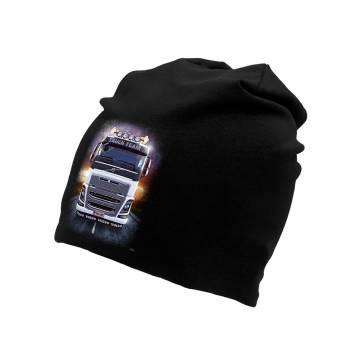 Black Volvo tricot beanie