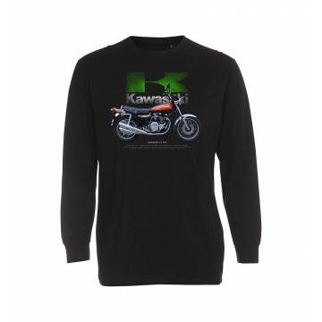 Black DC Kawasaki Z1 900 longsleeve T-shirt