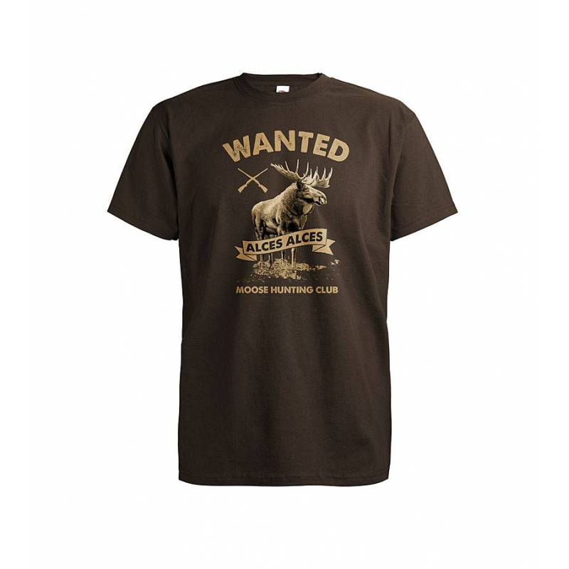Suklaanruskea DC Wanted Hirvi T-paita