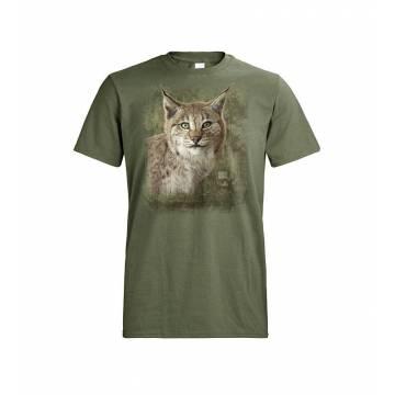 Forest Green DC Ilveksenpää, Lynx lynx T-paita