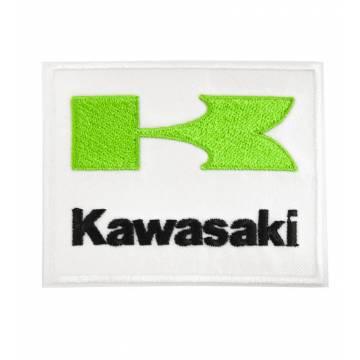 Valkoinen Kawasaki Kangasmerkki 75x60 mm