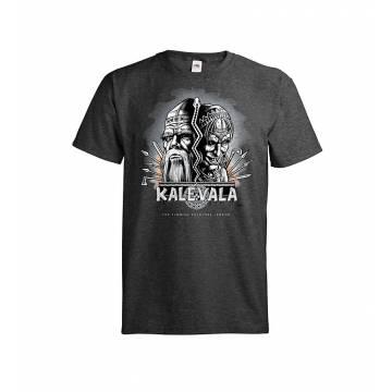 Dark melange gray DC Kalevala, Kasvot T-paita