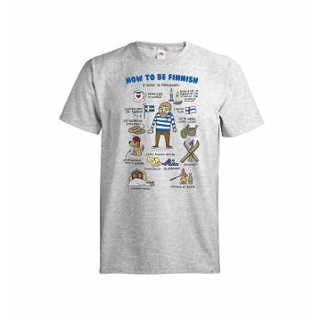 Heather Grey DC How to be Finnish T-shirt