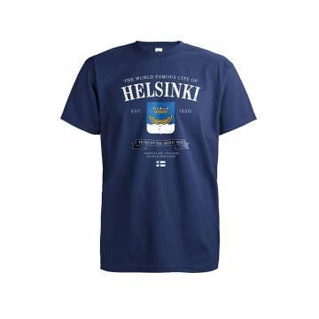 Tummansininen DC World Famous Helsinki T-paita