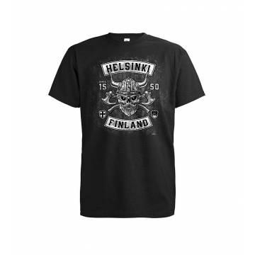 Musta DC Helsinki Viking T-paita
