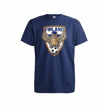 Tummansininen DC Futis Huuhkaja T-paita