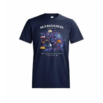 Navy Blue DC Skärgårdens ringväg T-skjorta