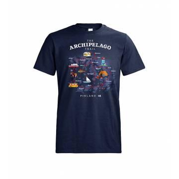 Navy Blue DC Archipelago Trail T-paita