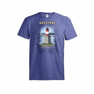 Meleerattu retro royal DC Helsinki Harmaja T-paita