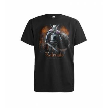 Musta DC Kalevala Legend T-paita