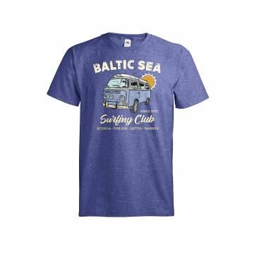 Meleerattu retro royal DC Baltic Sea Surfing Club T-paita