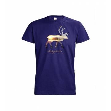 Cobalt blue DC Reindeer silhoutte, Midnight sun T-shirt